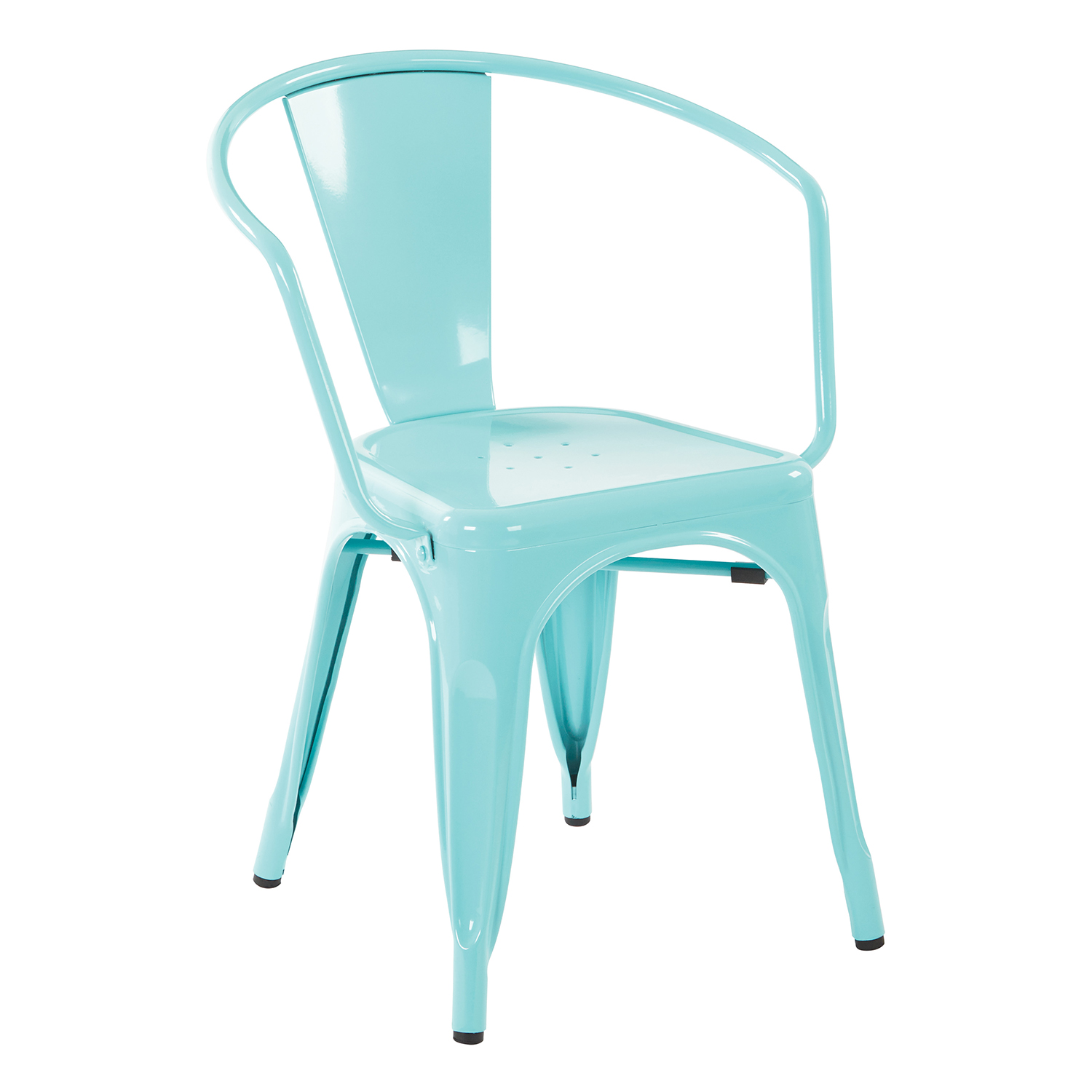 """Patterson Mint Green 30"""" Metal Chairs Set Of 2"""