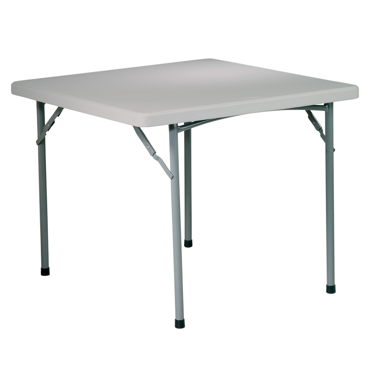 """Gray 36"""" Square Resin Table"""