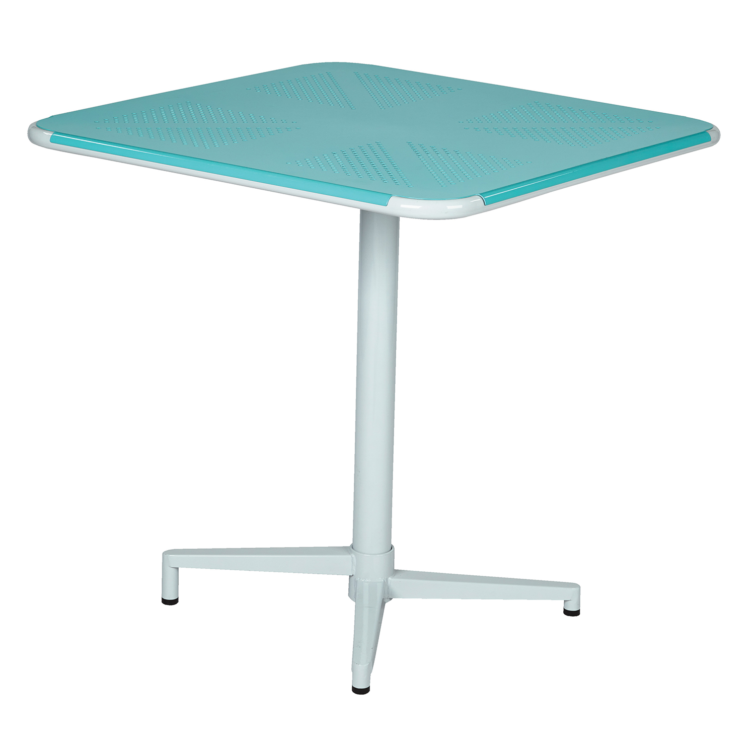 """Teal Albany 30"""" Square Folding Bistro Table"""