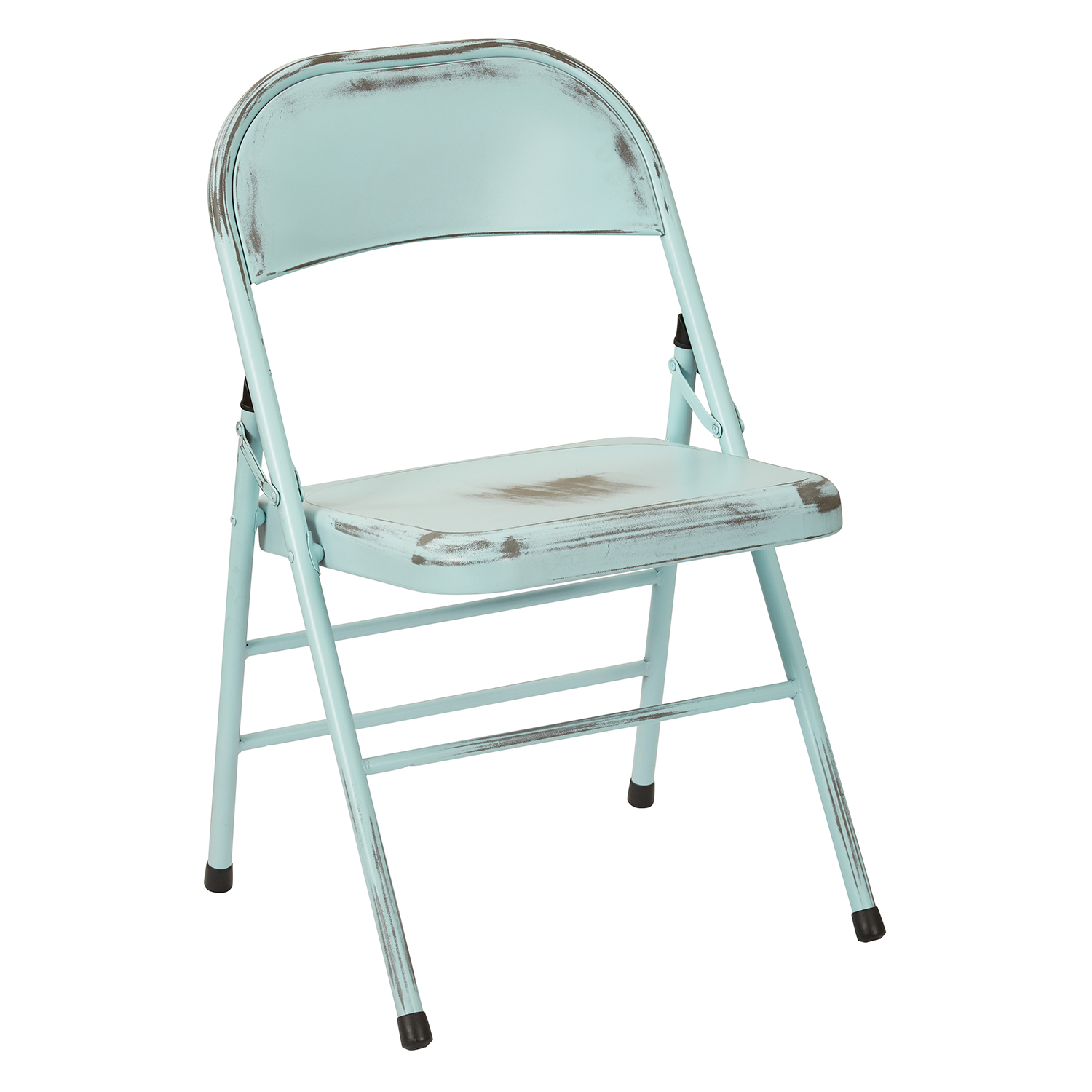 Bristow Blue Steel Folding Chairs Set of 2