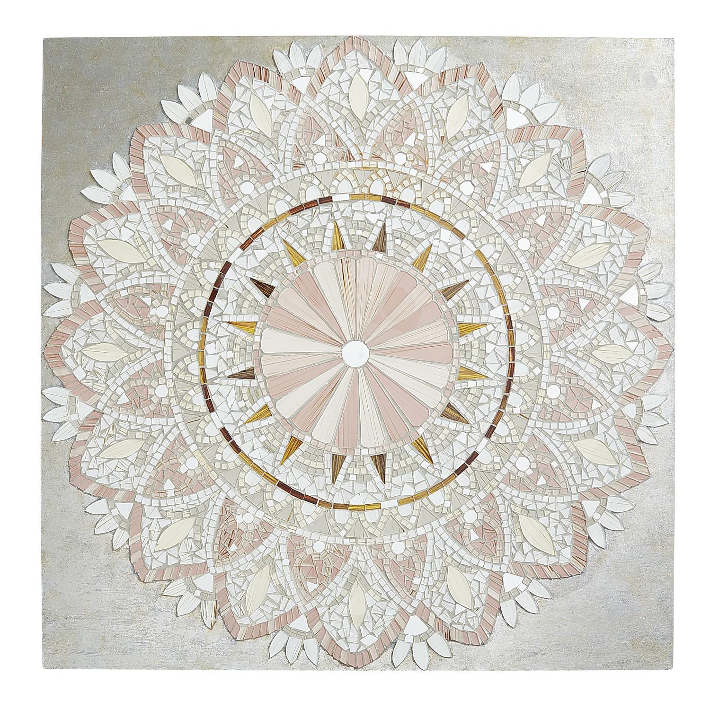 Blush Mosaic Medallion Wall Decor