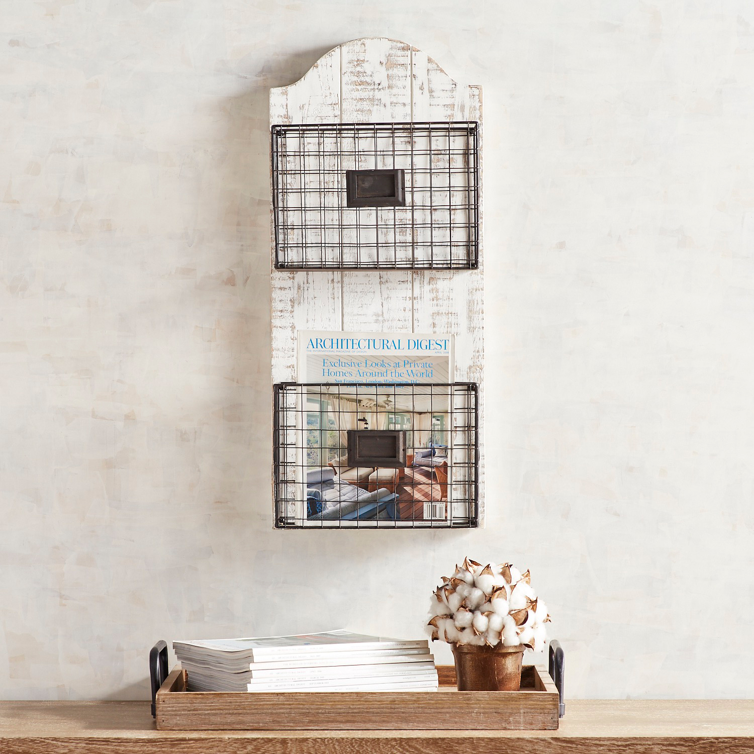 Rustic 2-Tier Letter Files