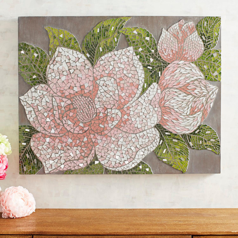 Mosaic Blooms Wall Panel