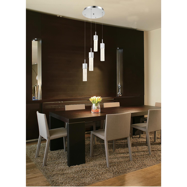 Contemporary 4 Light Adjustable LED Pendant Light