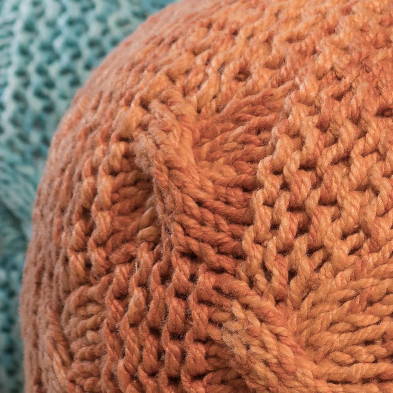 Bryson Orange Pouf