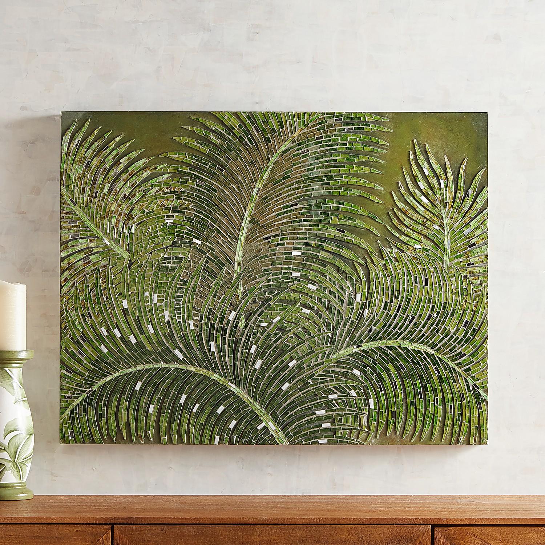 Mosaic Fresh Ferns Wall Decor