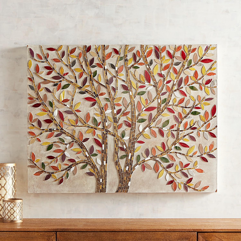 Mosaic Warm Leaves Wall Panel