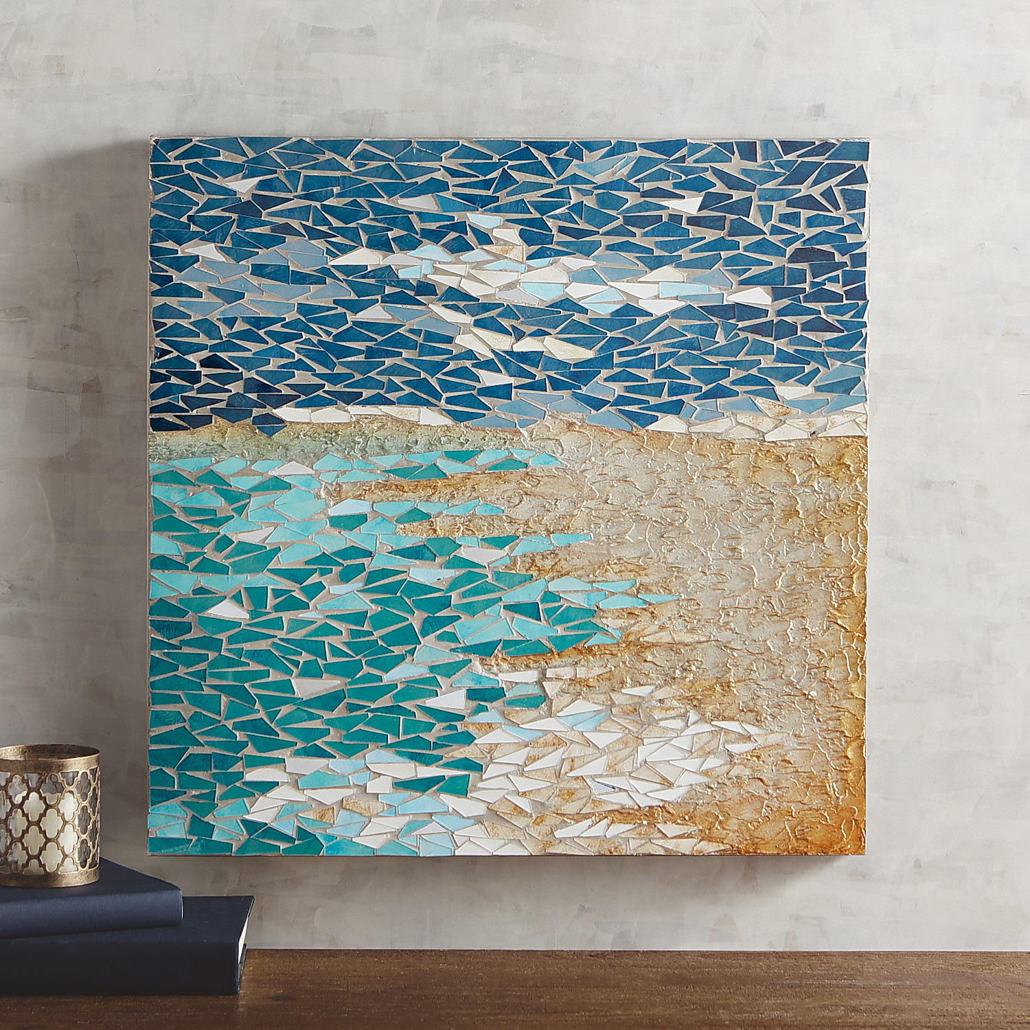 Mosaic Coast Wall Panel