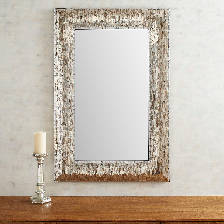 Soft Golden Mosaic Mirror