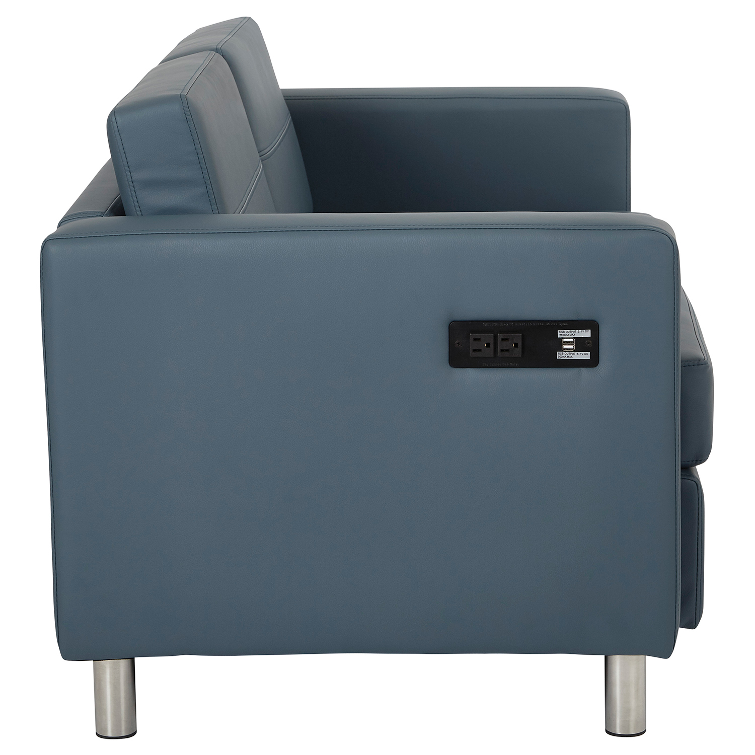 Atlantic Blue Loveseat with Charging Station