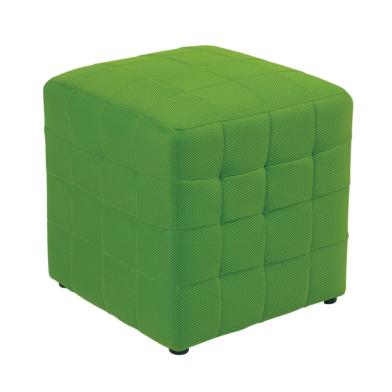 "15"" Green Cube Ottoman"