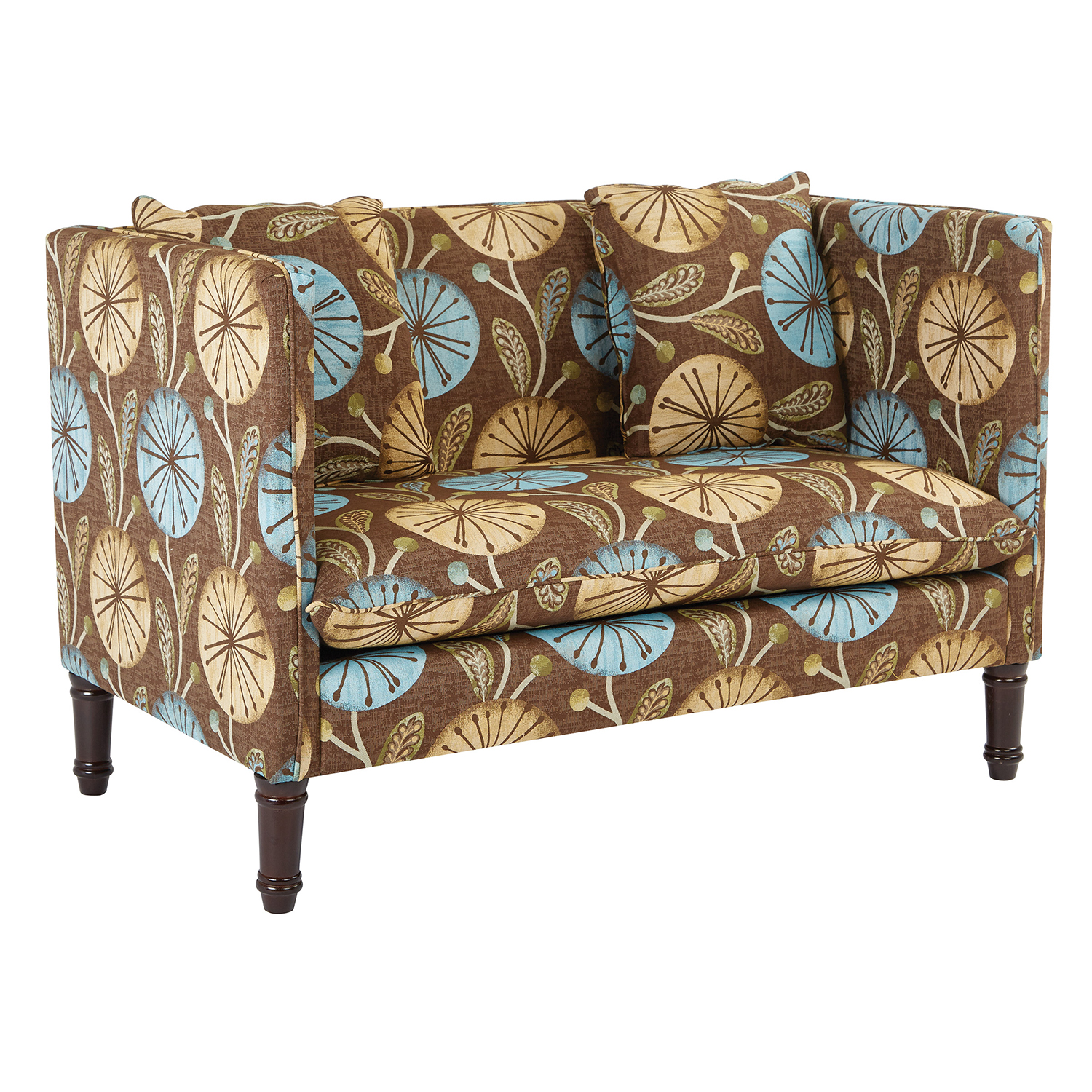 Providence Brown Floral Settee