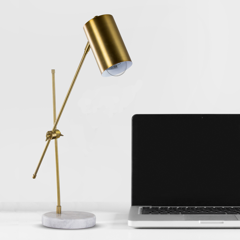 Gold Metal Adjustable Desk Lamp