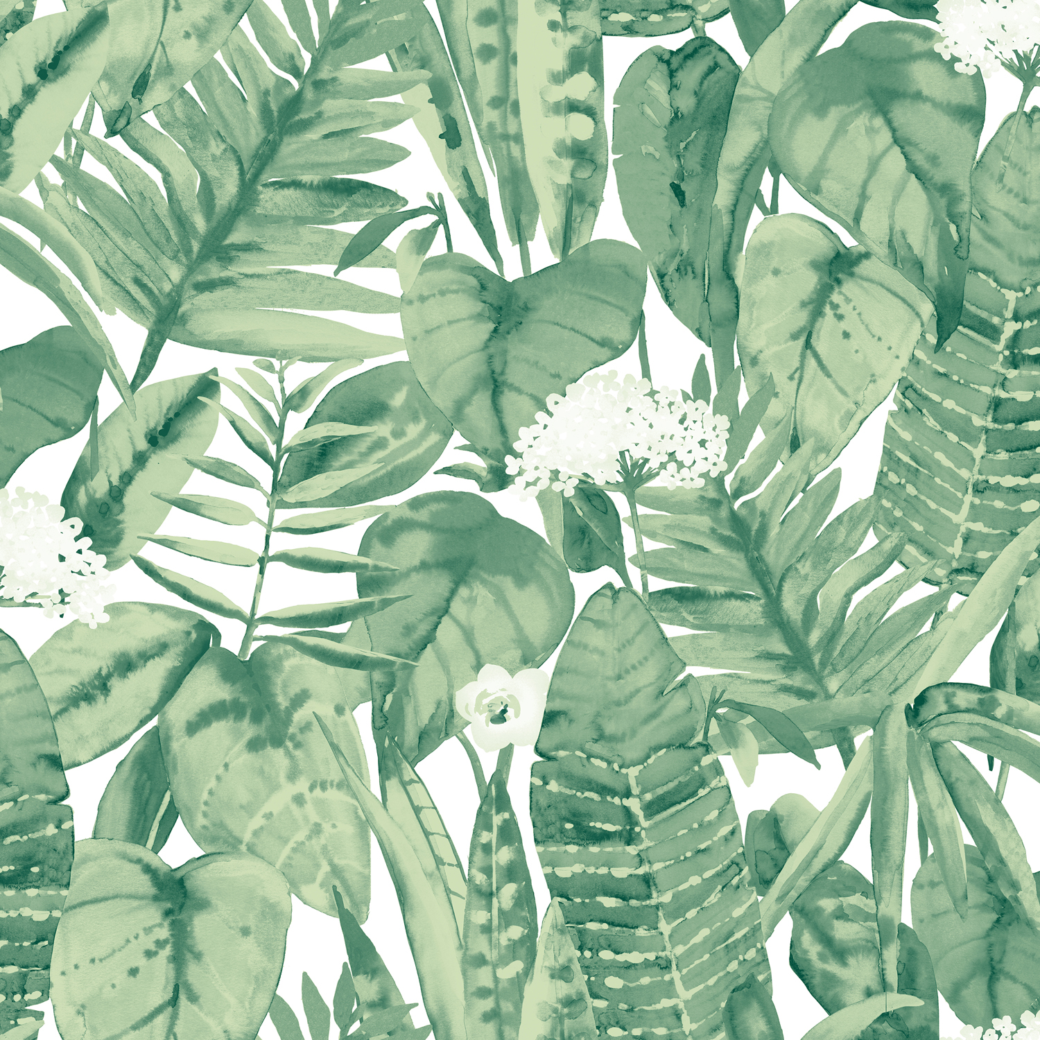 Tempaper® Tropical Jungle Green Self-Adhesive Wallpaper