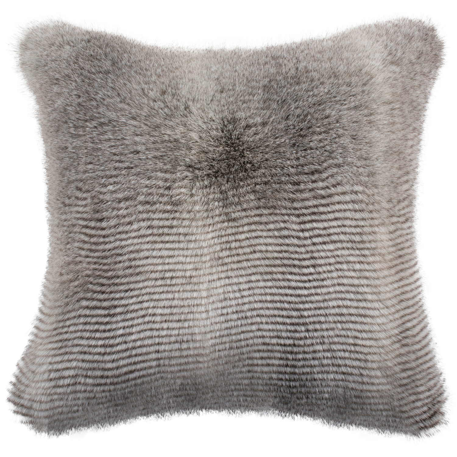 Wavy Luxe Gray Pillow