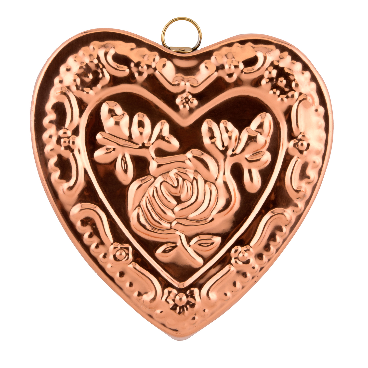 Solid Copper Heart & Rose Mold