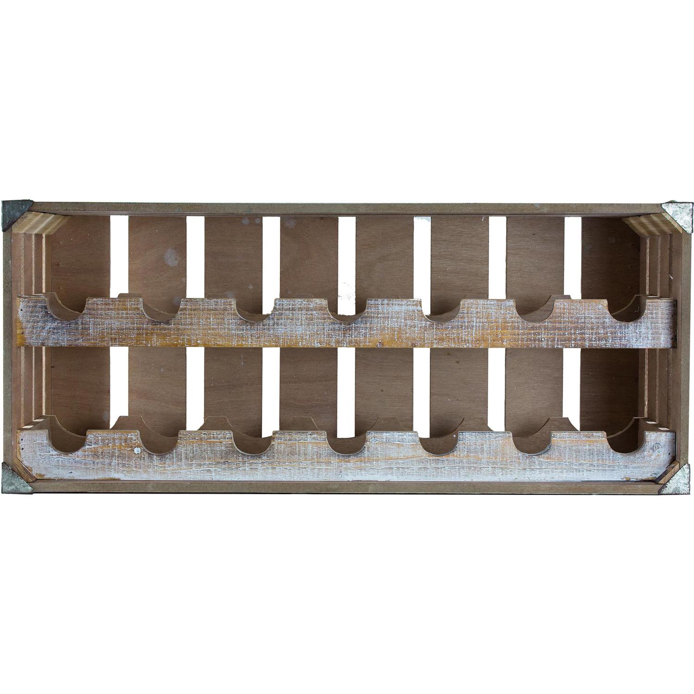 Vintage Farmhouse Crate 14-Bottle Wine Rack