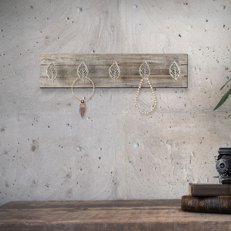 American Art Decor Rustic Five Hook Key & Coat Rack