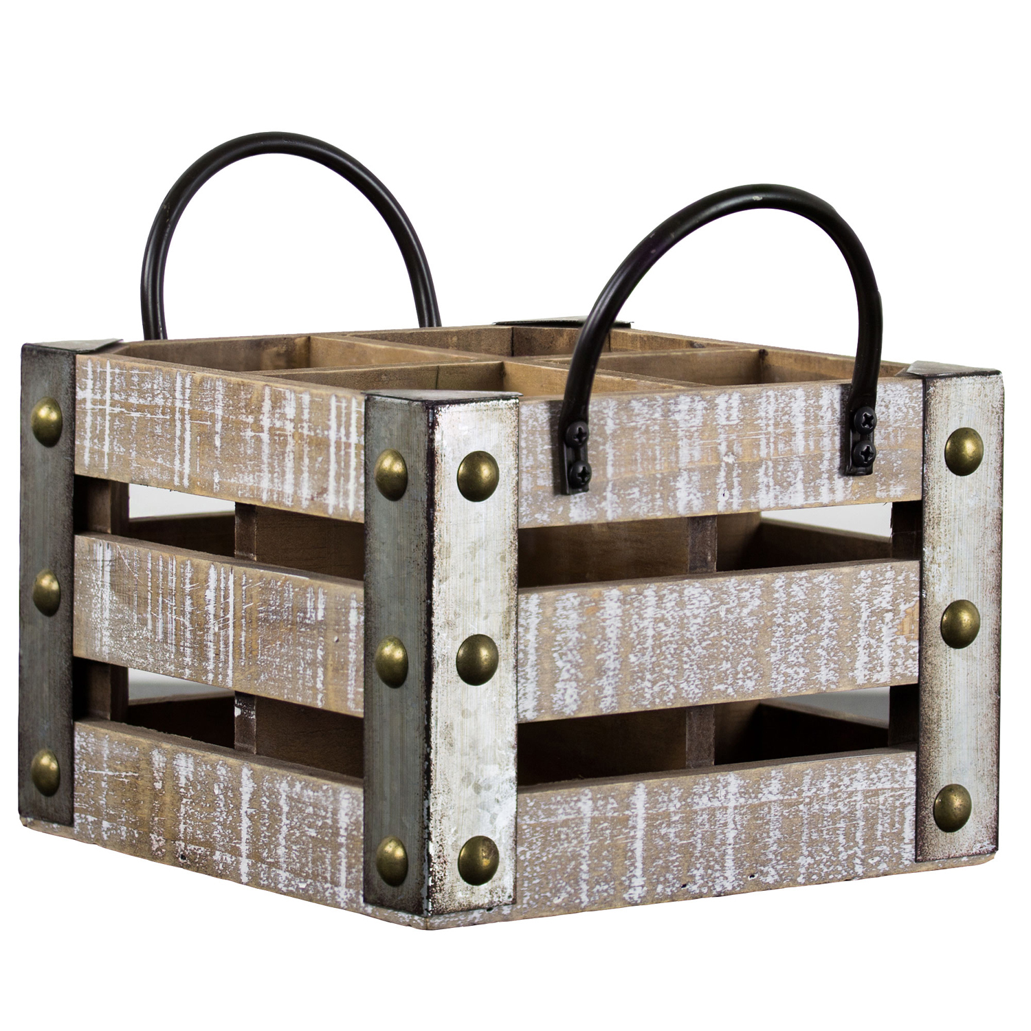 Rustic Four Bottle Wine Crate