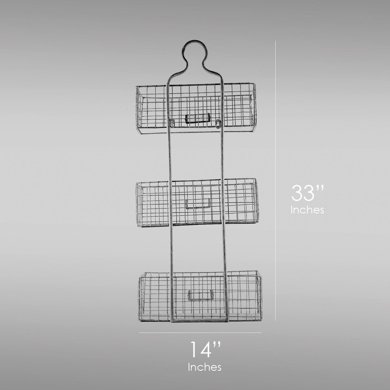 Vintage 3-Tier Wire Baskets