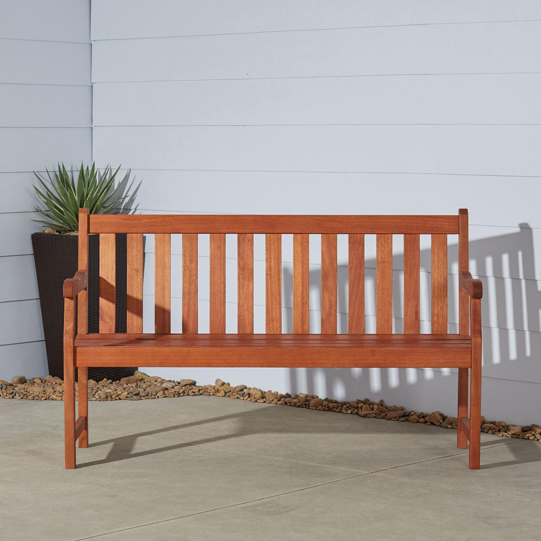 Baltic Brown 5' Outdoor Wood Garden Bench