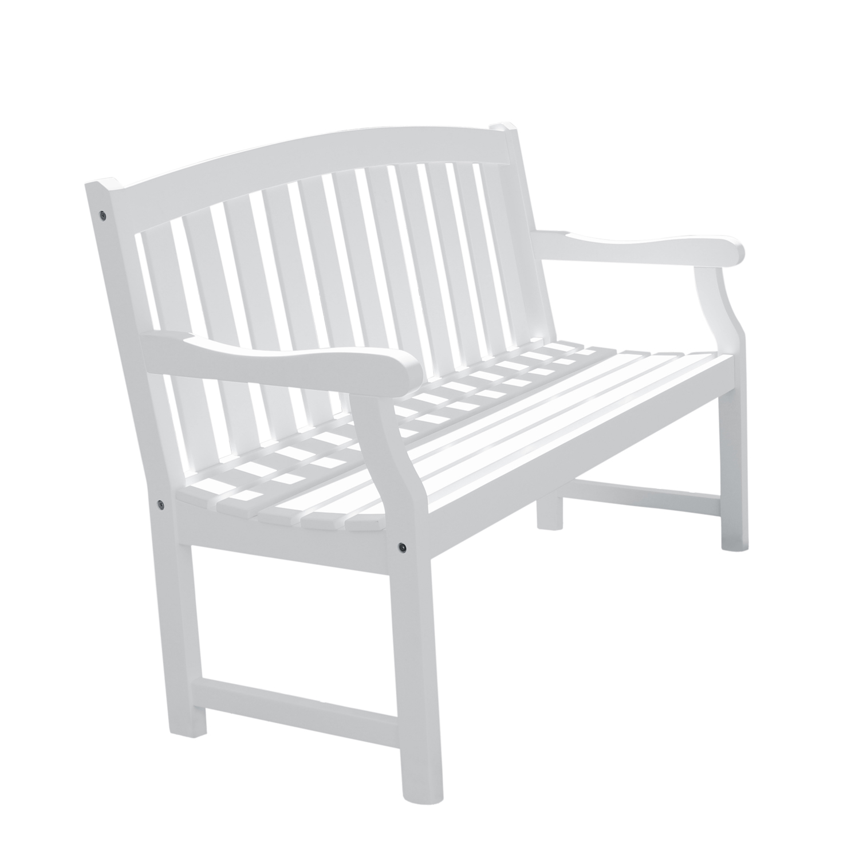 Bradley White 5' Wood Garden Bench