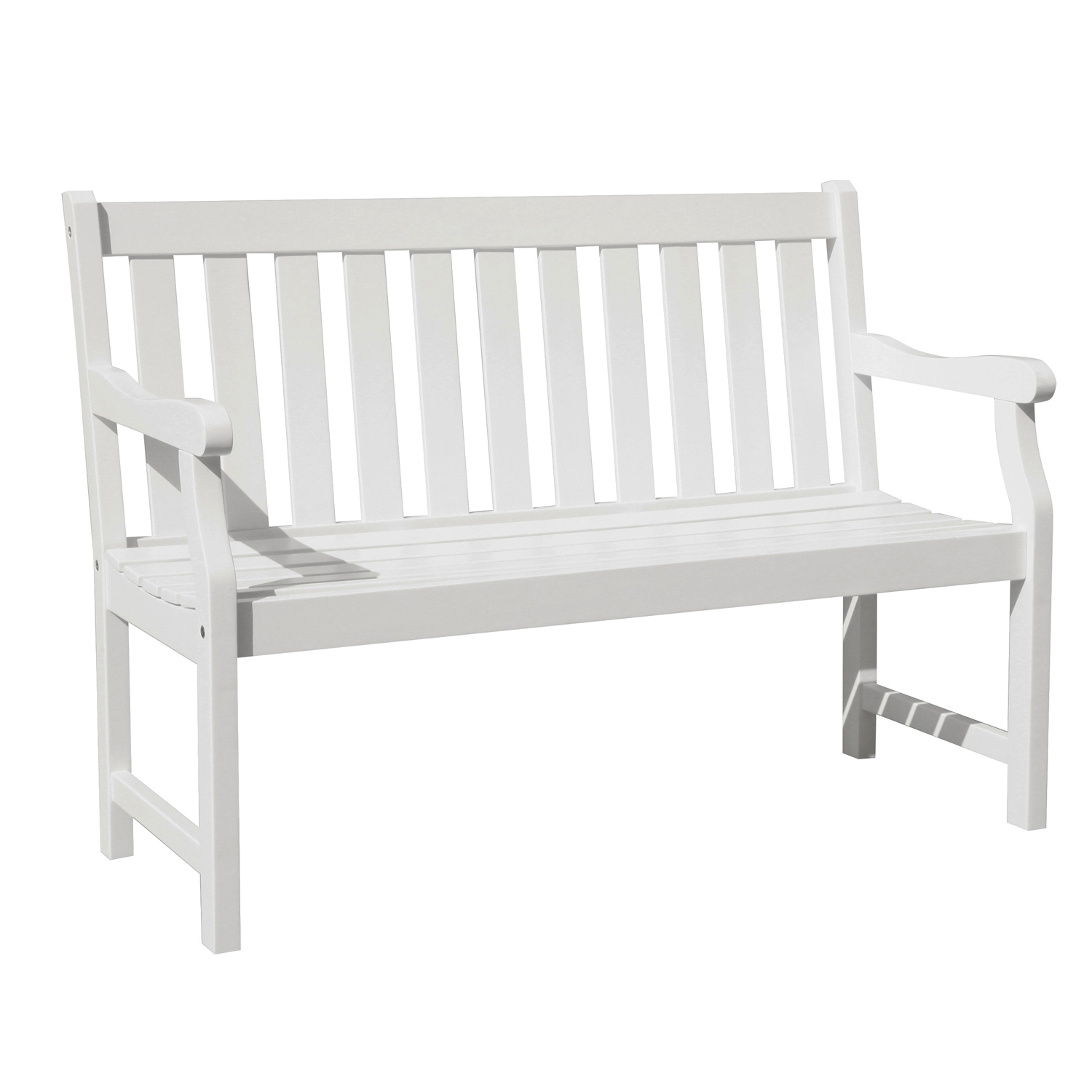 variation thumbnail of 4' Bradley White Outdoor Wood Garden Bench
