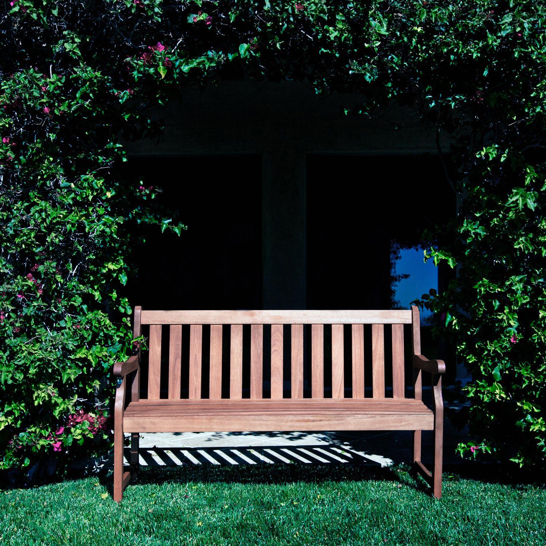 5' Malibu Brown Slatted Wood Garden Bench