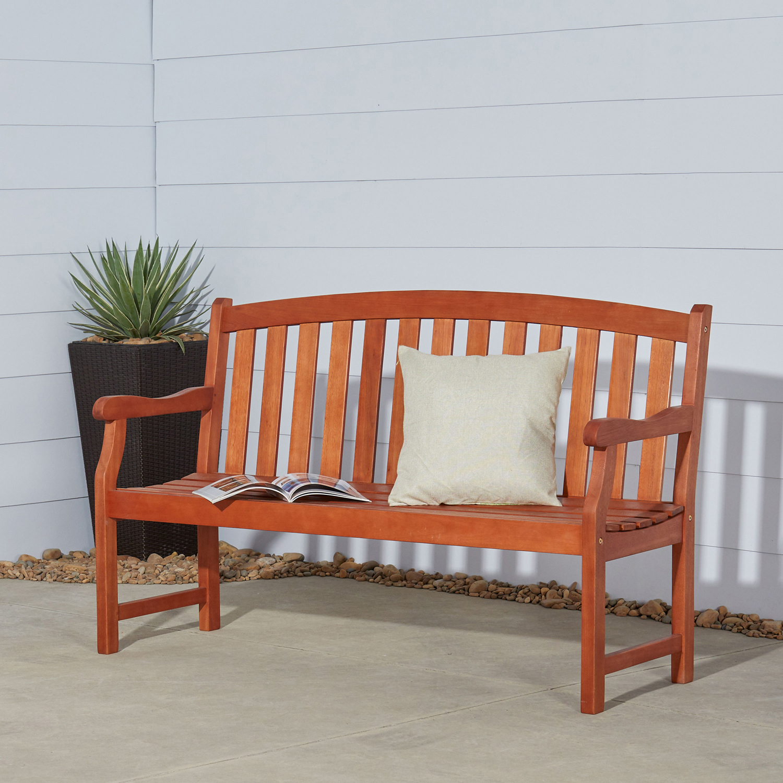 Malibu Brown 5' Wood Garden Bench