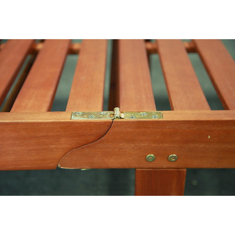 Malibu Brown Outdoor Wood Chaise Lounge