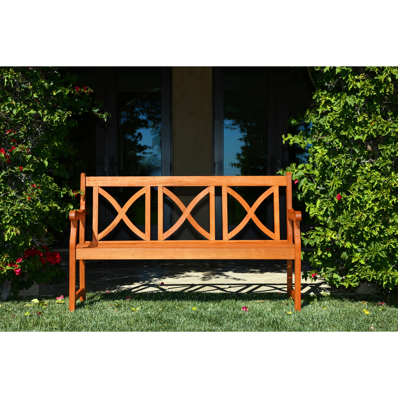 5' Malibu Brown Wood Garden Bench