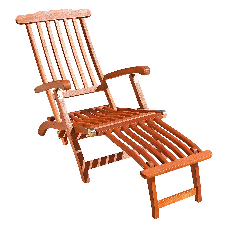 Malibu Brown Outdoor Wood Steamer Lounge