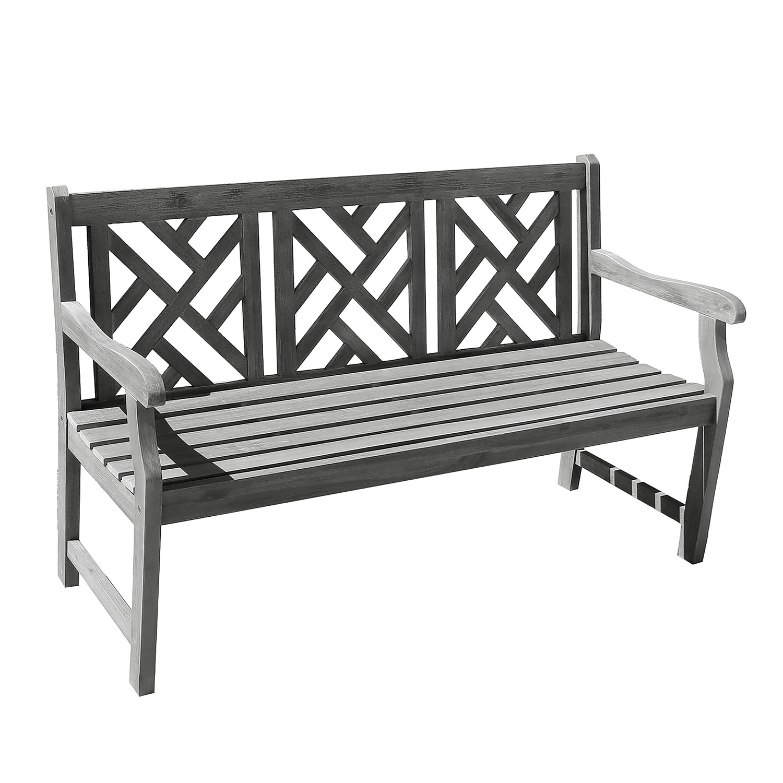 Renaissance 5' Hand-Scraped Decorative-Back Wood Garden Bench