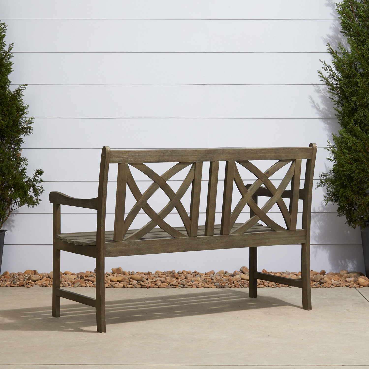 Renaissance 4' Hand-Scraped Wood Garden Bench