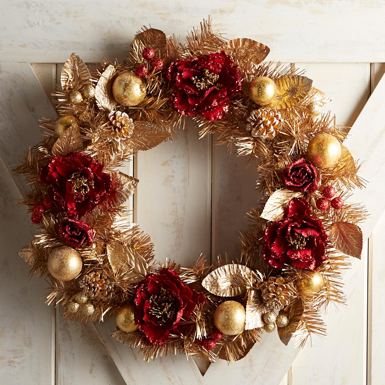 """24"""" Crimson Chic Wreath"""