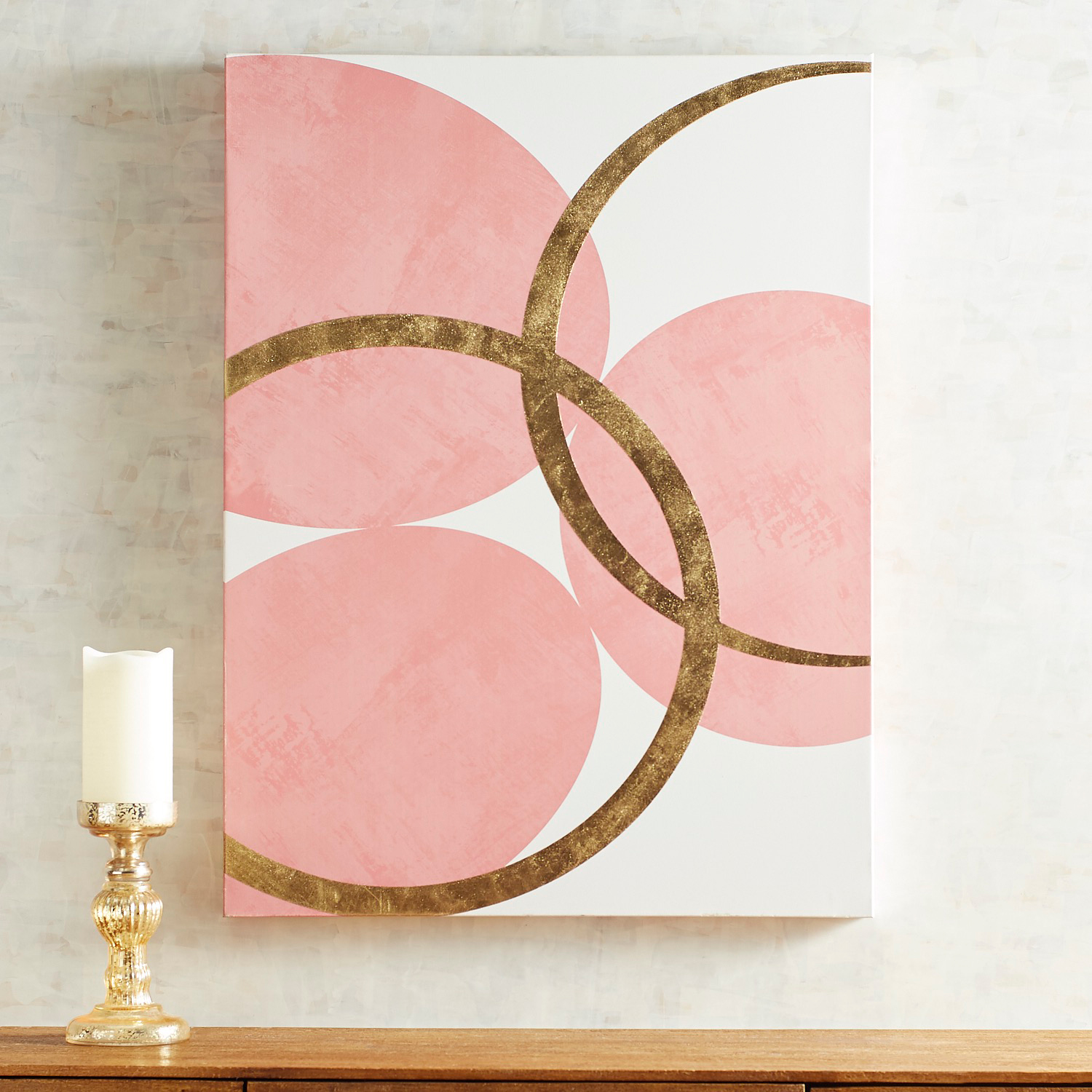 Blush Circles Wall Art