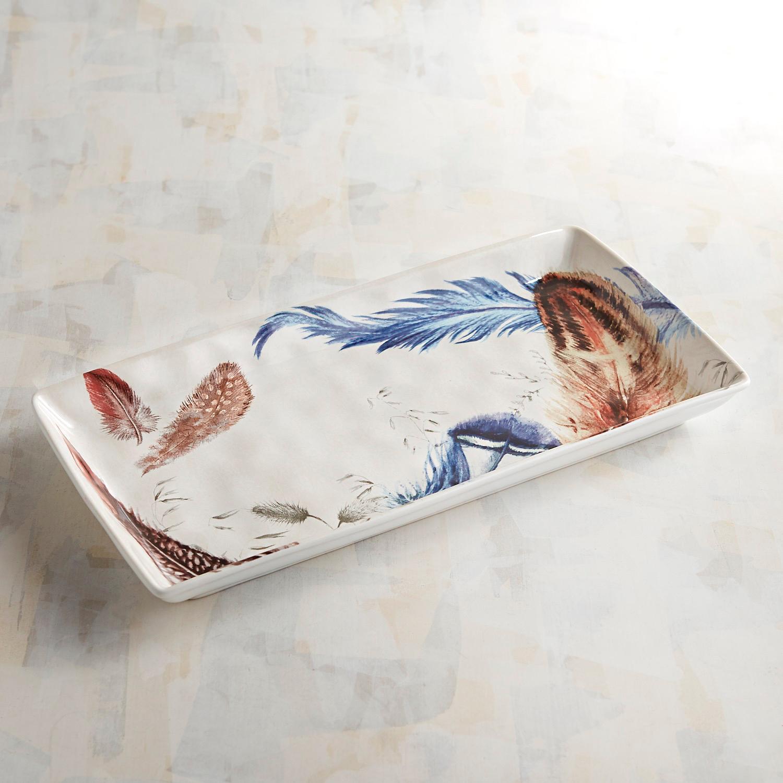 Feather Rectangular Serving Platter