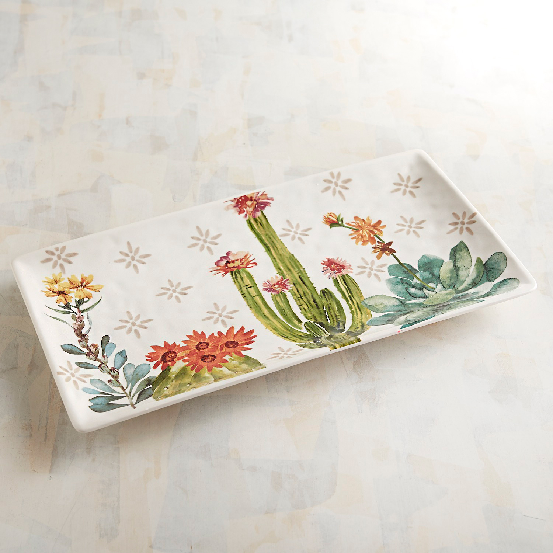 Fall Cactus Rectangular Serving Platter