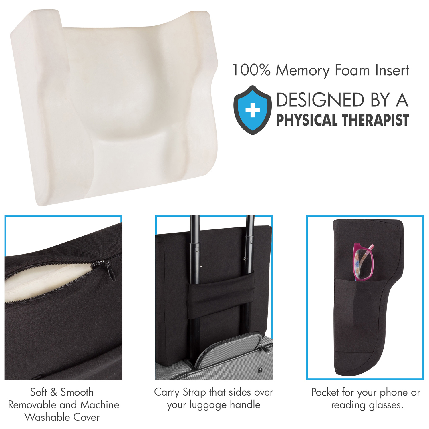Memory Foam Curve Support Travel Pillow