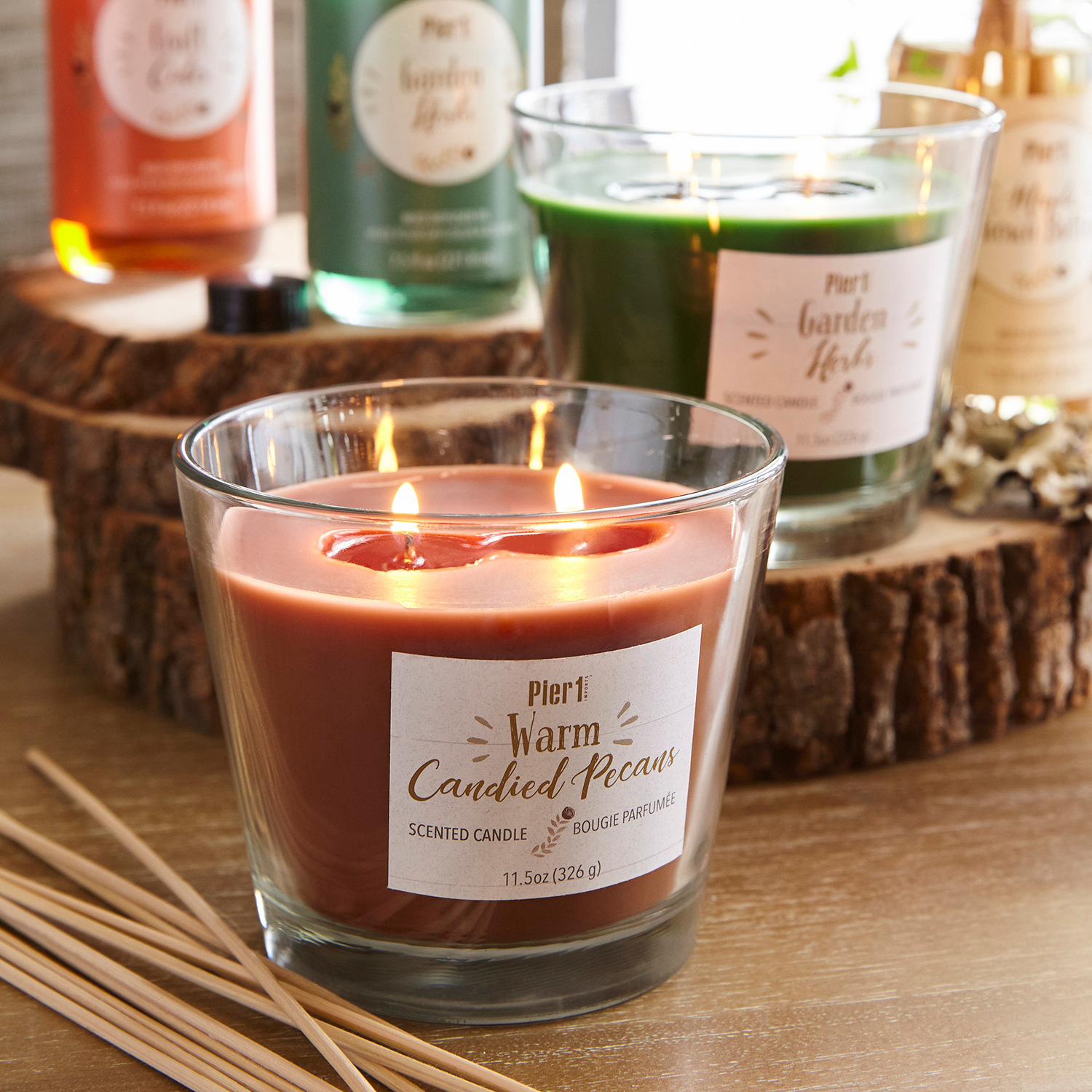Warm Candied Pecans Filled 2-Wick Candle