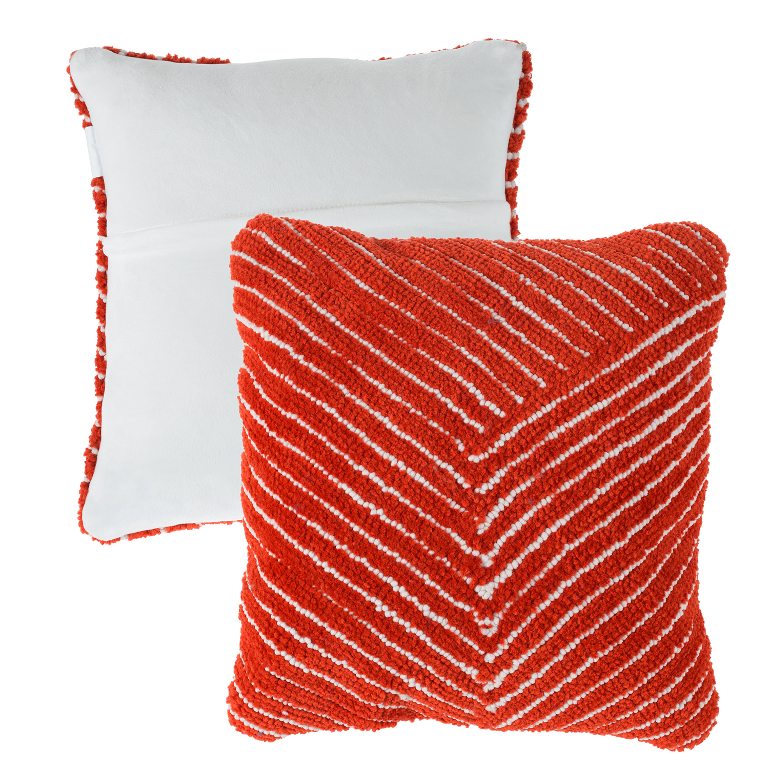 "18"" Modern Geometric Decorative Clay Red Throw Pillow"