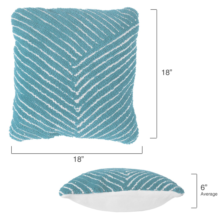 "18"" Modern Geometric Blue Decorative Throw Pillow"