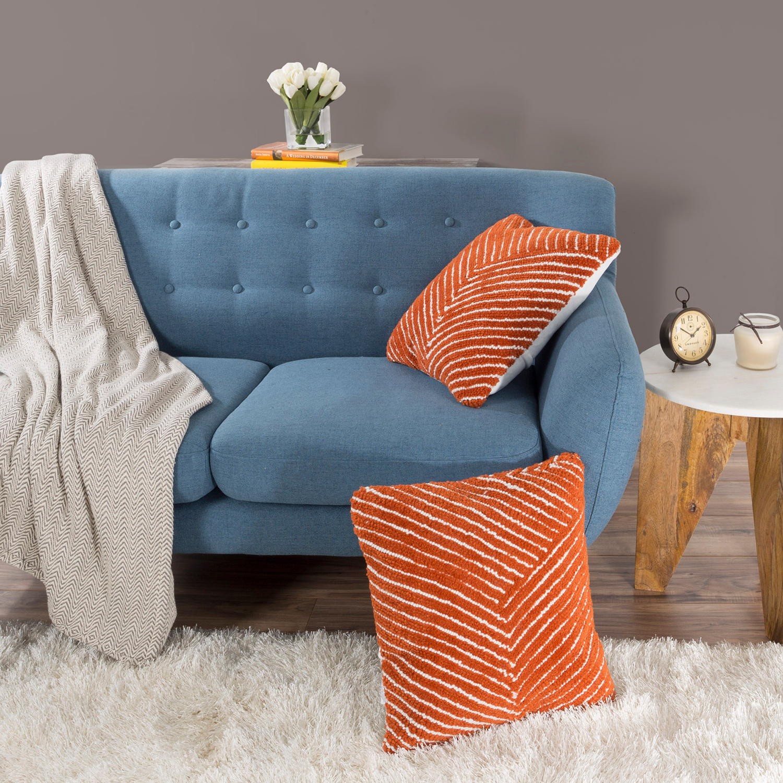 "18"" Burnt Orange Modern Geometric Throw Pillow"