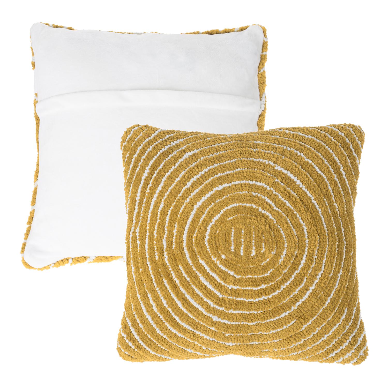 "18"" Sand Modern Concentric Throw Pillow"