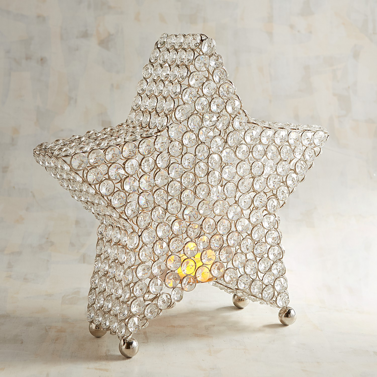 Crystal Star Tealight Candle Holder