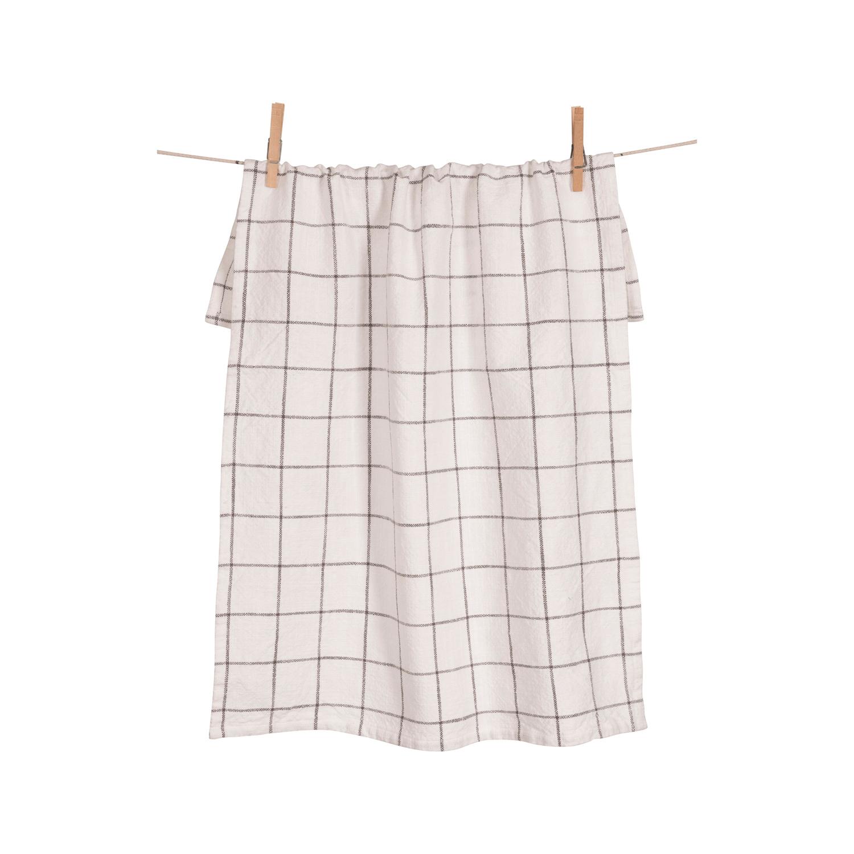 Pewter Grid Kitchen Towel Set of 2