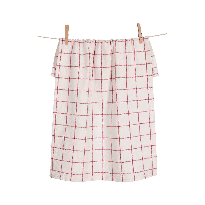 Cherry Grid Kitchen Towel Set of 2