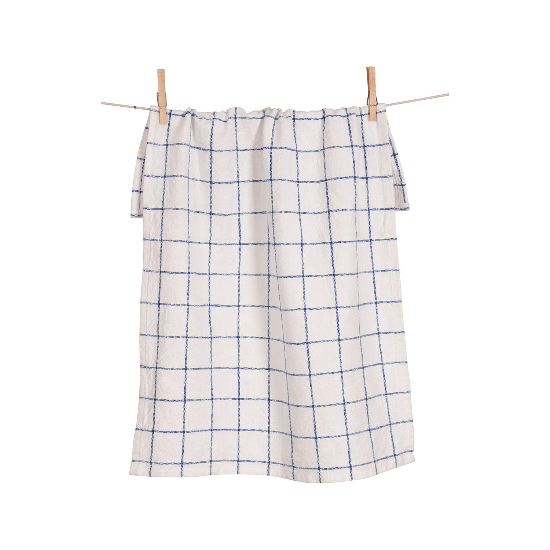 Blue Grid Kitchen Towel Set of 2