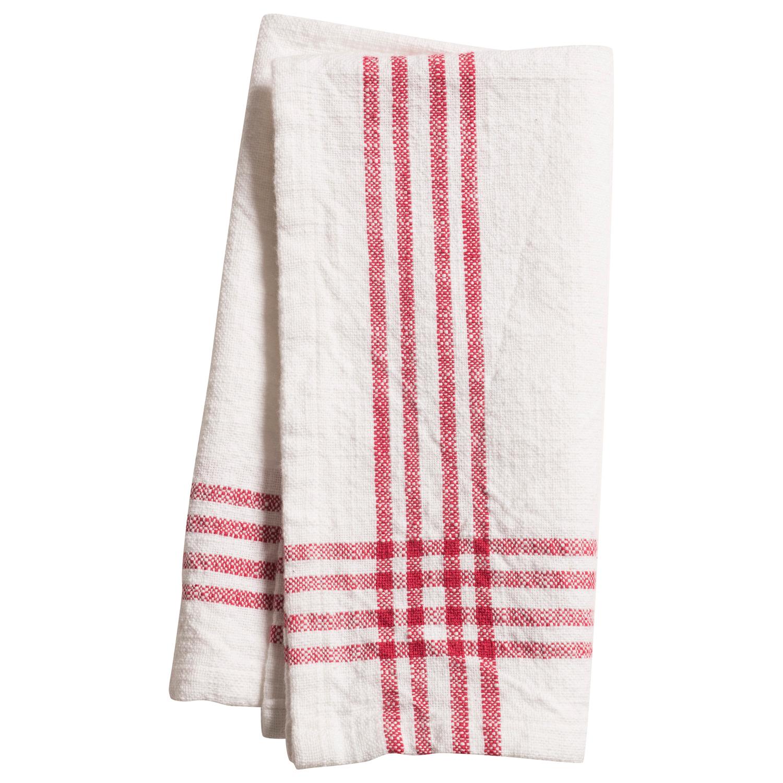 Cherry Stripe Border Napkin Set of 4
