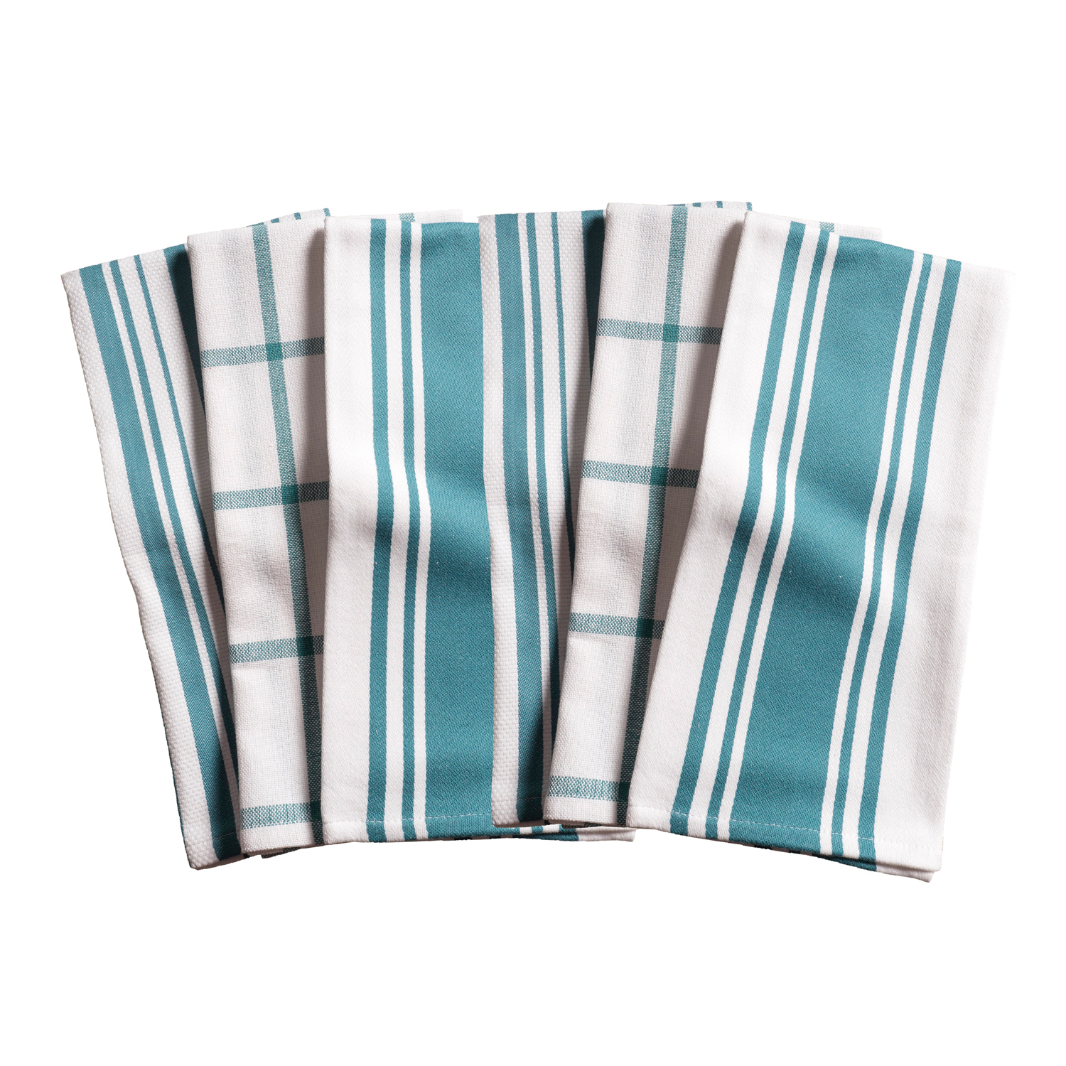 Teal All Purpose Kitchen Towels Set of 6